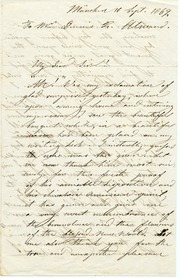 Letter from Fredrika Bremer to Dennis R. Alward