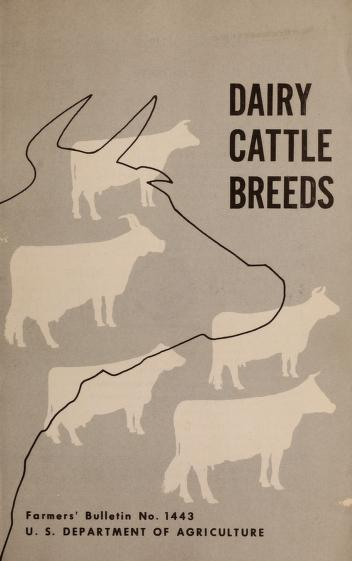 Cover of: Dairy cattle breeds | Amer Benjamin Nystrom