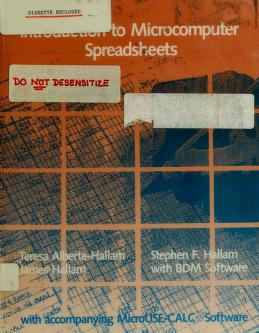 Cover of: Introduction to Microcomputer Spreadsheets | Teresa Alberte-Hallam