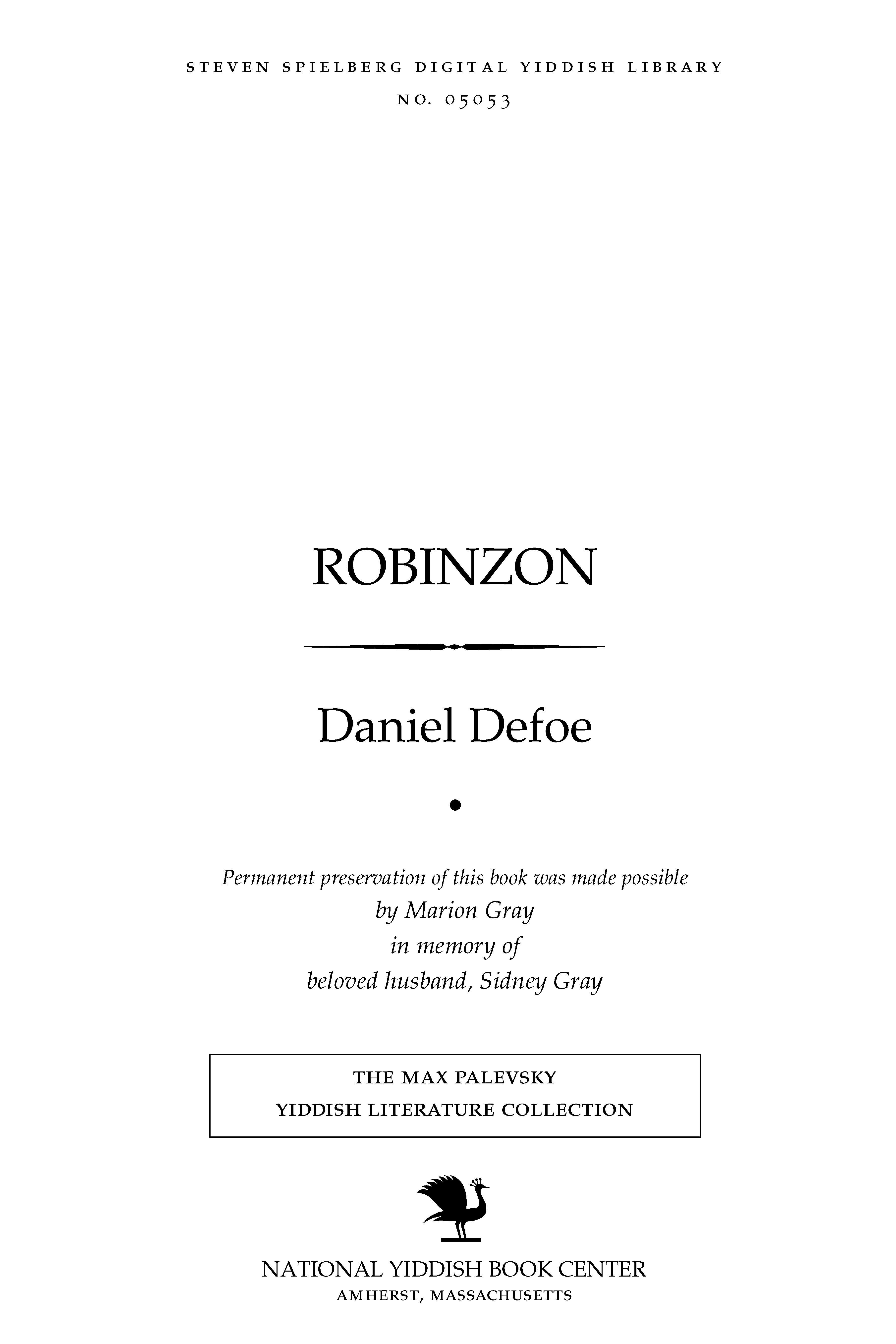Cover of: Robinzon